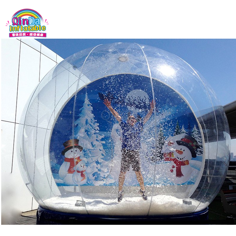 Christmas decoration custom empty snow globe inflatable dome human snow globe for sale 3m diameter empty inflatable snow ball for advertisement christmas decorations giant inflatable snow globe