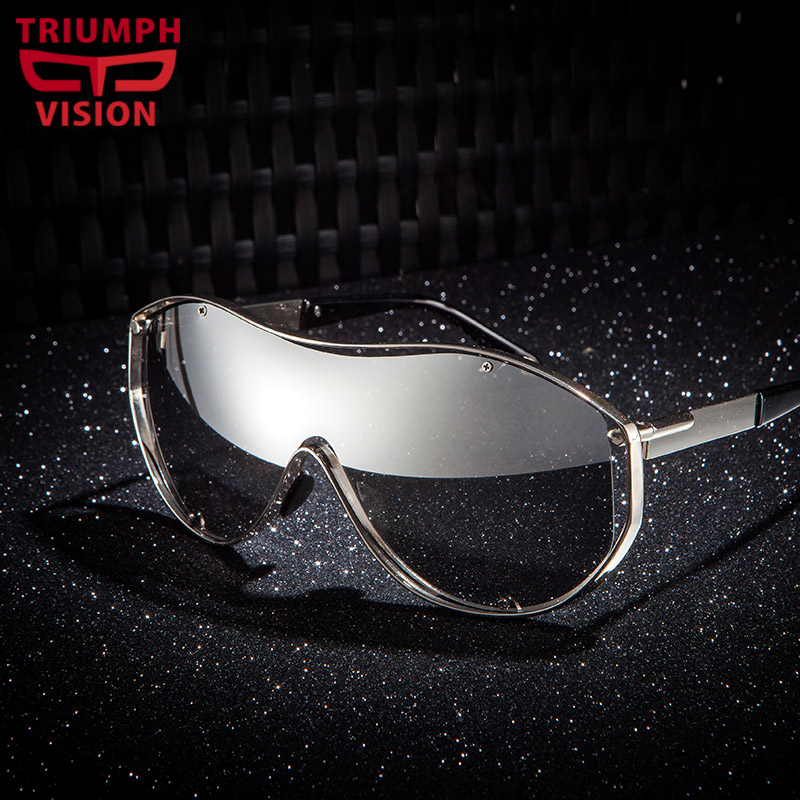 TRIUMPH VISION UV400 Goggle Sunglasses Men Fashion Glasses Male Original 2016 Mirror Oculos de sol masculino High Quality