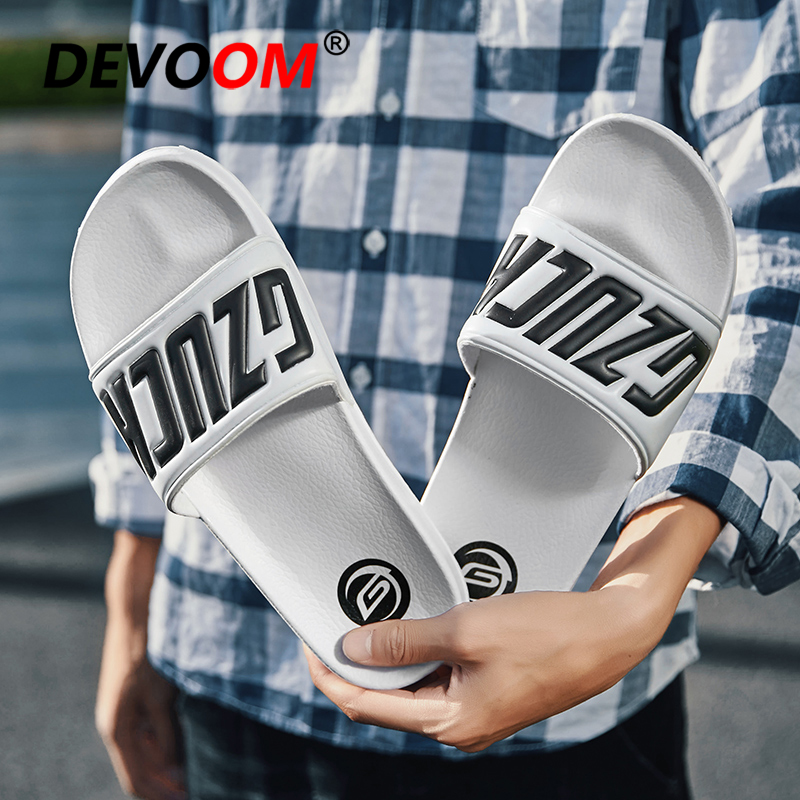 Summer Black Slippers Men Flip Flops Mens Fashion Characters Upper White Breathable Shoes For Man Outdoor Beach Water Slippers mens slippers rubber breathable shoes black flip flops mans black summer slippers 2018 new slippers male