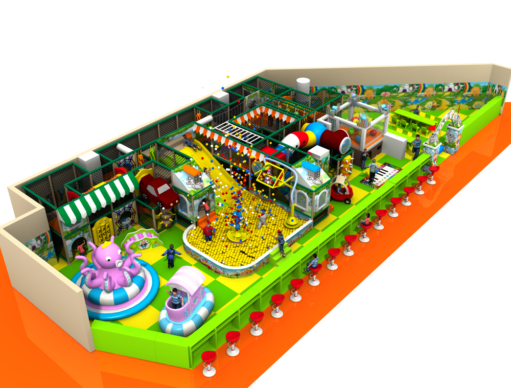 Customized Kids Indoor Soft Park Electric Playground