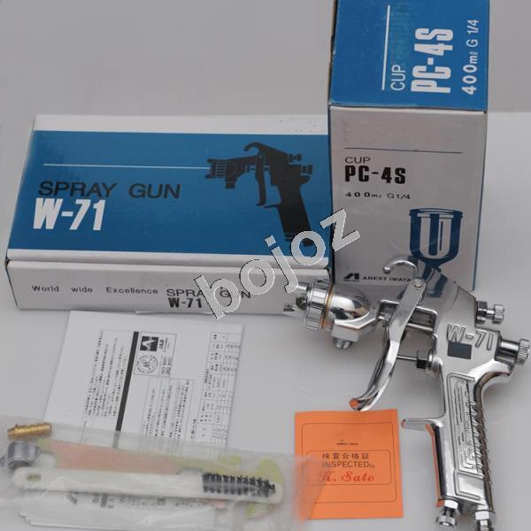 Japan Made Manual  Spray Gun W-71 Gravity Feed Paint Spray Gun 1.0mm/1.3mm /1.5mm/1.8mm Nozzle G1/4 Cup