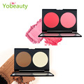 New 2 Colors Brand Make Up Blush Palette In Matte Face Blusher Powder Palette Makeup Lady's Professional Make Up Cosmetic Blush