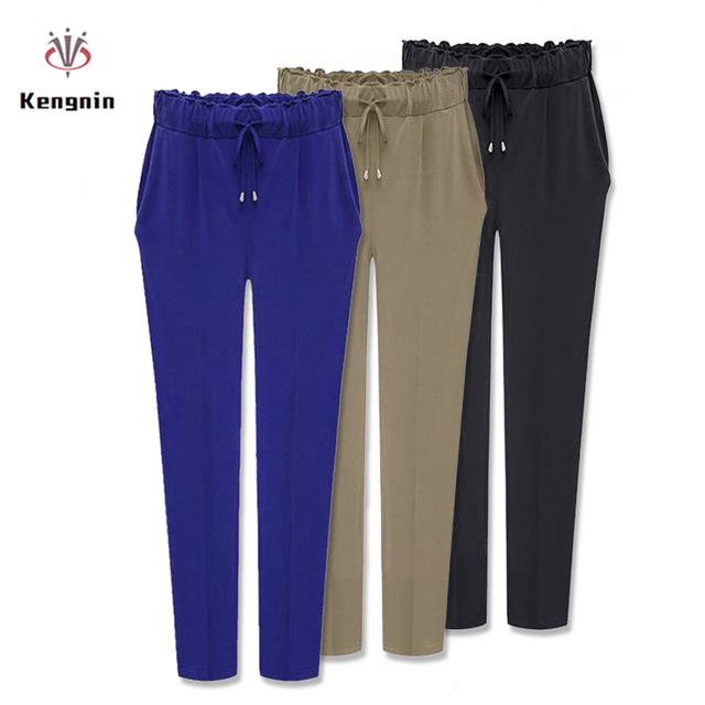 2019 Autumn European Style Casual Loose Stretch Women Palazzo Harem Trousers Female Slack Sweatpants Plus Size M-3XL 4XL 5XL 6XL
