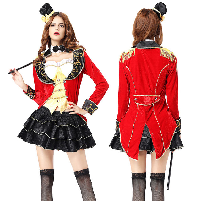 Adult Women Sexy Halloween Magician Costume Funny Circus Trainer Cosplay Outfit Fancy Joker Dovetail Coat Uniform  sc 1 st  AliExpress.com & Adult Women Sexy Halloween Magician Costume Funny Circus Trainer ...