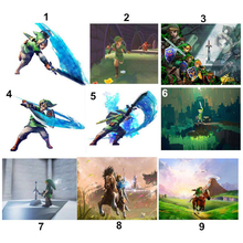 5D Diy Diamond Painting Cartoon The Legend of Zelda Breath Wild Wall Art Picture Landscape Home Decor