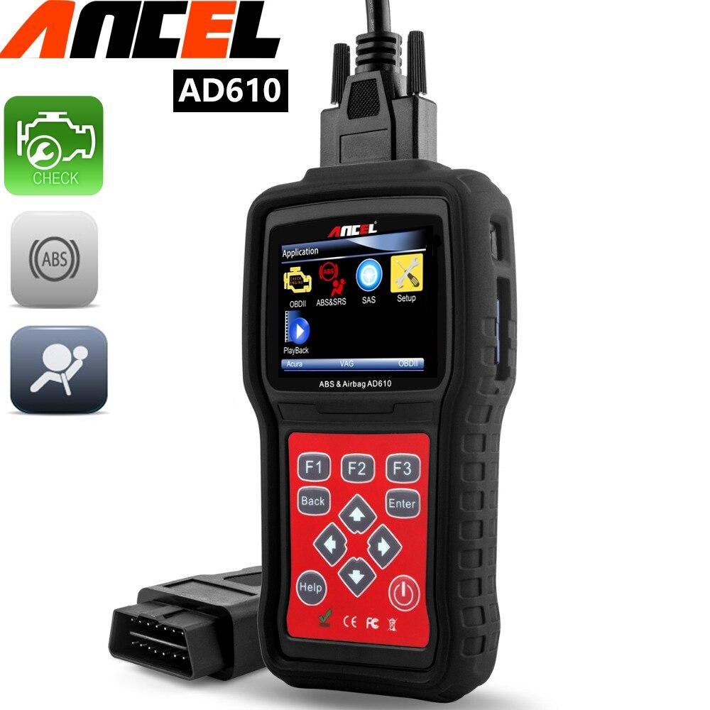 Prix pour De diagnostic scanner outil abs sas srs airbag moteur analyseur faute réinitialiser le code ance AD610 code lecteurs scan outils pour nissan honda.