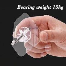 2 шт. крепкие прозрачные настенные крючки, держатель для кухни, аксессуары для ванной комнаты, настенная вешалка для хранения, многофункциональный крючок