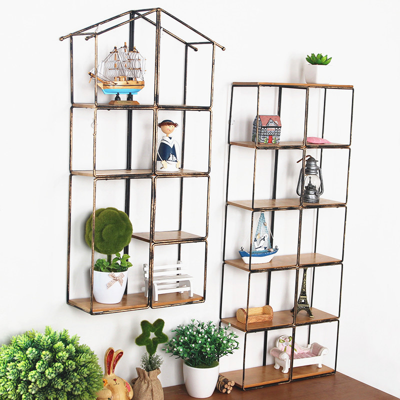 Large Metal Storage Box Iron Wall Hanger Holder Multifunction Rack with solid wood Trays Shelf Home. Popular Wooden Bathroom Shelves Buy Cheap Wooden Bathroom Shelves
