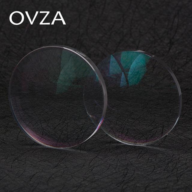 OVZA 1.67 Ultra ince Çizilmeye Dayanıklı Asferik Reçine Lens Artı Filmi Artı Sert Reçete Lensler Radyasyon Miyopi Gözlük