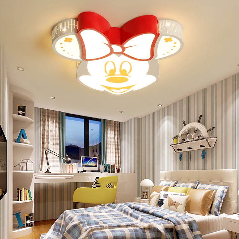 Modern Led Ceiling Lamp For Children's Room With Remote Control Mickey Kindergarten Lights Lamp Kids Girl Boy Room Light