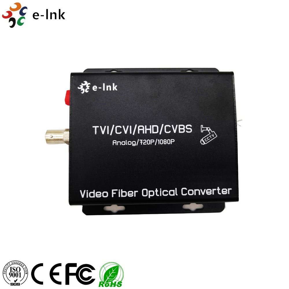1Ch AHD TVI CVI to fiber Transceiver for 1080P camera