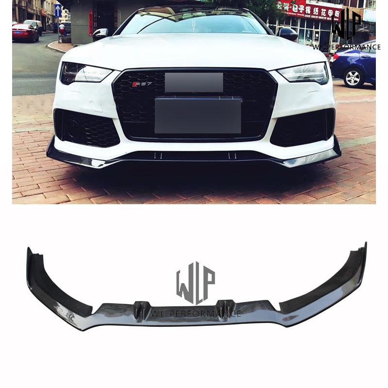 A7 ABT Style Carbon Fiber Front Lip Splitter Car Styling For Audi RS7 Car Body Kit 2012-2017