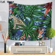 lzl thuis super mode kleurrijke veer tropische plant tapestry hippie interieur muur opknoping tapestry boho sprei