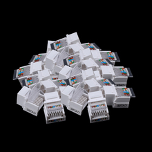 25pcs /pacl Tool free CAT5E UTP network module RJ45 connector Information socket Computer Outlet cable adapter Keystone Jack