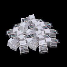 Módulo de red CAT5E UTP libre de herramientas, conector RJ45, Conector de información, salida de PC, adaptador de cable, conector Keystone, 25 uds./pacl