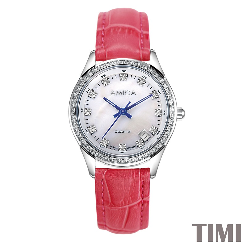 AMICA NEW FASHION  2017 FULL STEEL RED WATCHBAND SLIVER SURFACE BLUE POINTER  WOMENS QURATZ WATCH LADYS WATCH A7-4 danchel gazeble sliver steel frame folding tent size 2x2 2x3 3x3 3x4 5 3x6 color blue and red