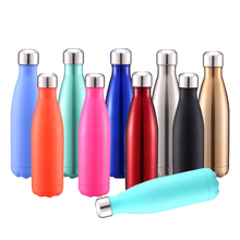500ML Stainless Steel Water Bottle Discolored Drinkware Travel Outdoor Sport Water Cup School Leak Proof Seal Climbing Accessory цена