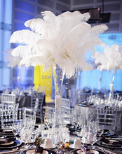 pure Free shipping wholesale Quality 100pcs perfect natural white ostrich feather 16-18inch/40-45cm Variety of decorative diy
