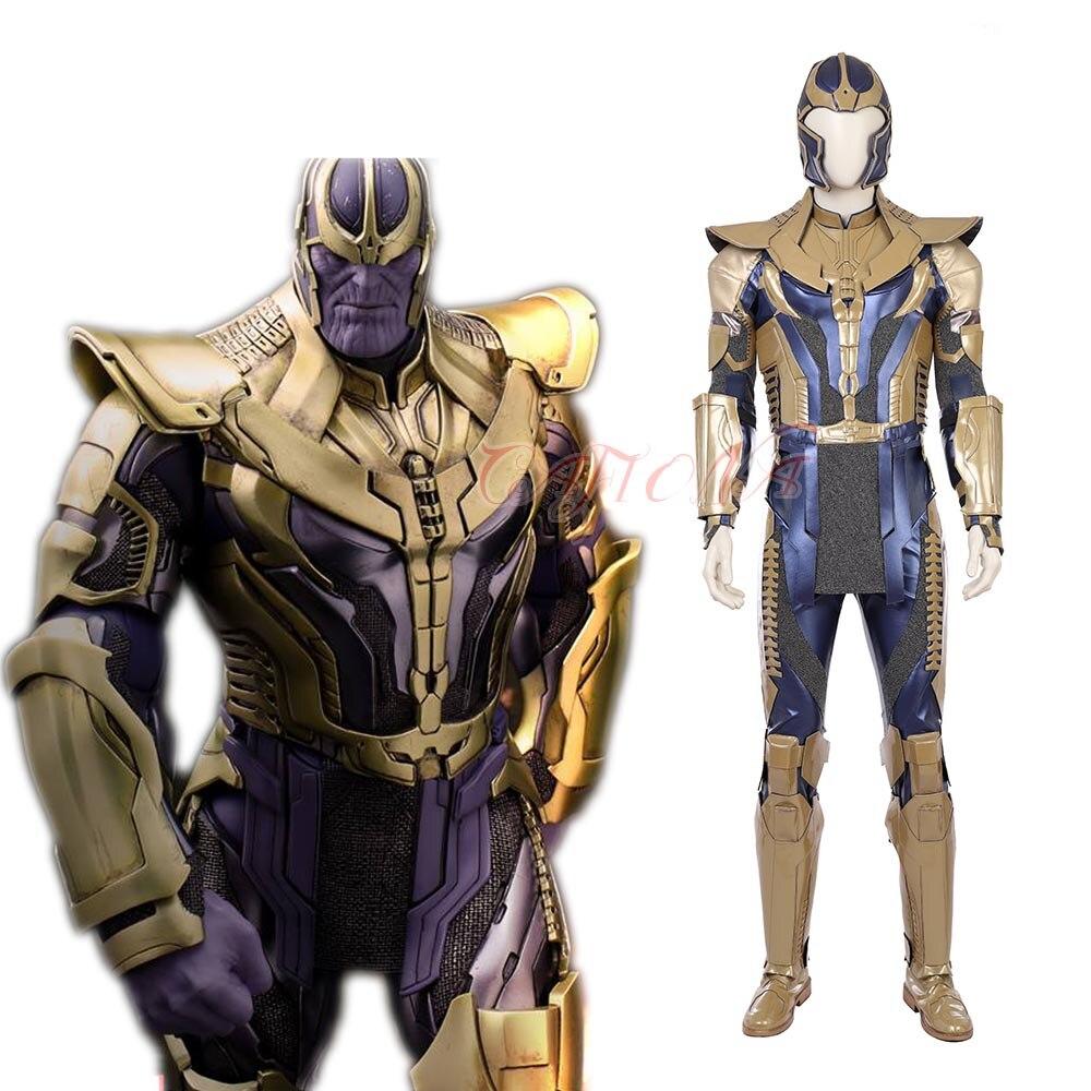 Cafiona новейший Мстители 3 Бесконечность войны танос Косплей Костюм крутой Человек Боевые наряды Хэллоуин шлем
