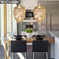 BOCHSBC Креативный дизайн листья подвесной светильник для спальни столовая кабинет веранда железная Светодиодная лампа осветительный прибор