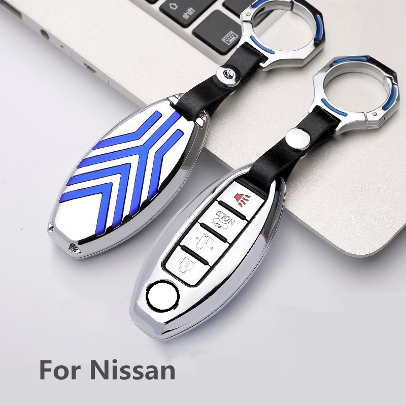 Zinc alloy Car Remote Key Cover Case For Nissan Qashqai J10 J11 X Trail t31 t32 kicks Tiida Pathfinder Murano Note Juke key bag in Key Case for Car from Automobiles Motorcycles