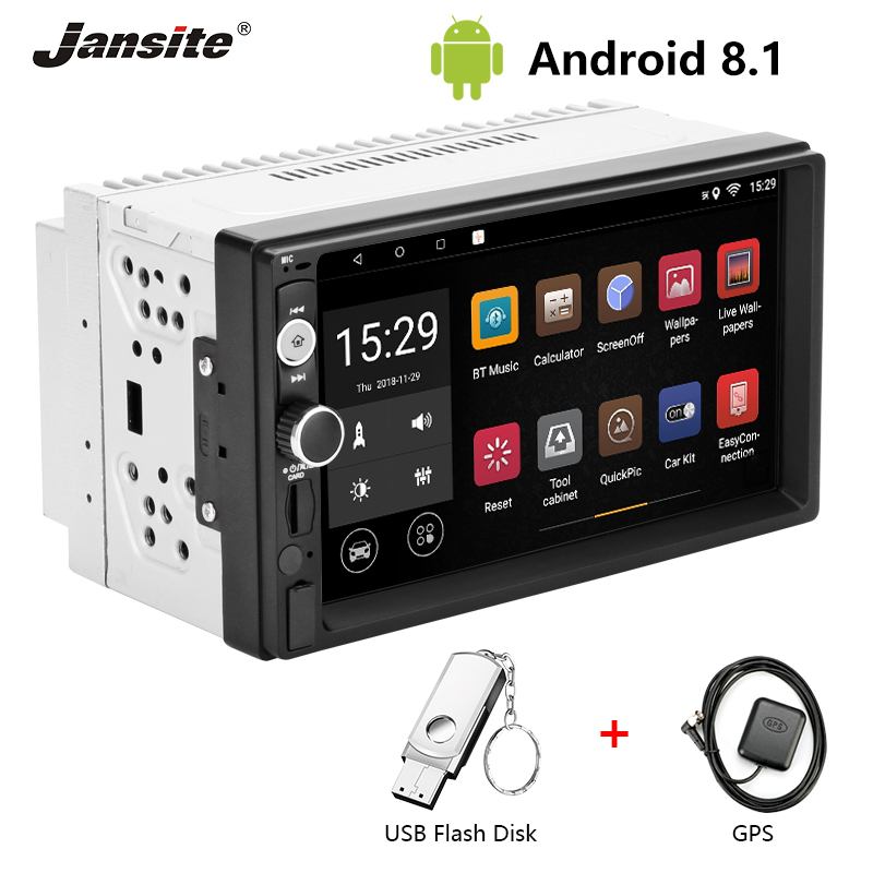 Jansite 7 2 din Car Radio Android8.1 player digital 1080P Touch screen GPS Bluetooth car stereo Audio with Backup camera U diskJansite 7 2 din Car Radio Android8.1 player digital 1080P Touch screen GPS Bluetooth car stereo Audio with Backup camera U disk