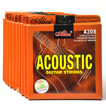 10 Sets /lot Alice A208 Acoustic Guitar Strings Stainless Steel Light / Super Light 10 sets lot alice a208 acoustic guitar strings stainless steel light super light