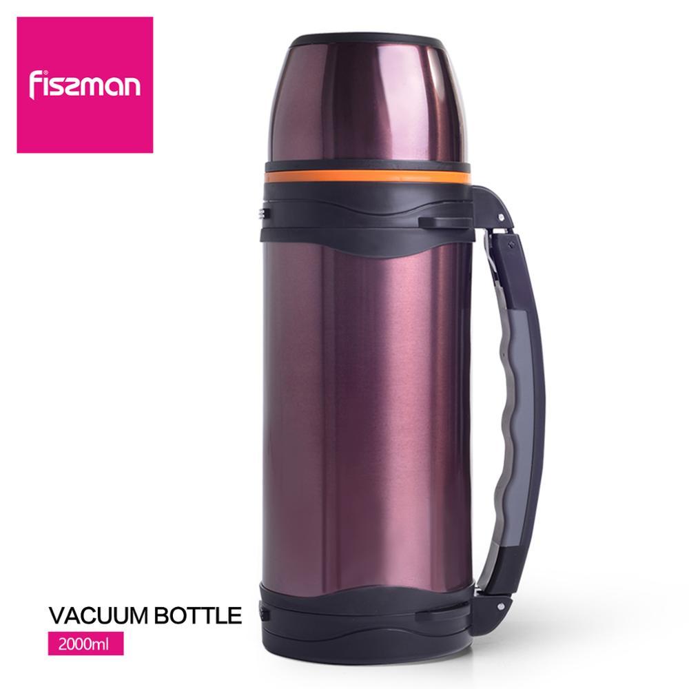 FISSMAN 2000 мл двухслойная вакуумная фляга из нержавеющей стали, уличная Изолированная чашка Вакуумные фляги и термосы      АлиЭкспресс