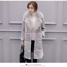 2016 Women Faux fur coat women's long design winter warm outwear female overcoat Fur Coat Winter Coat Women