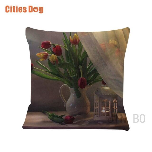 3D flower Tulips pillow Cushion wedding decorative pillows white Velvet  Fabric pillow for pregnant women travesseiro dakimakura 398080bb99