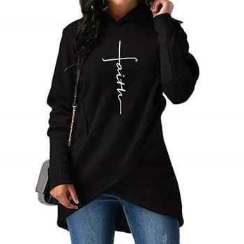 womens hoodies floral female 2019 winter casual  letter print long sleeve pullovers sweatshirts womenss hoodies XL 1