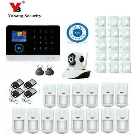 YobangSecurity WiFi GSM GPRS RFID Sistema de Seguridad Antirrobo Casa de Alarma de Vigilancia Cámara IP Inalámbrica Sirena Sensor de Humo