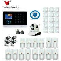 Yobangsecurity wifi gsm gprs rfid Главная Защита от взлома ДОМ видеонаблюдения Системы Беспроводной IP Камера сирена дыма Сенсор