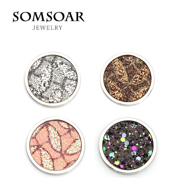 Somsoar Jewelry New Arrival 2017 Jewelry Accessories 33mm Paillette Coin Disc Fit My Coin Pendant 10pcs/lot