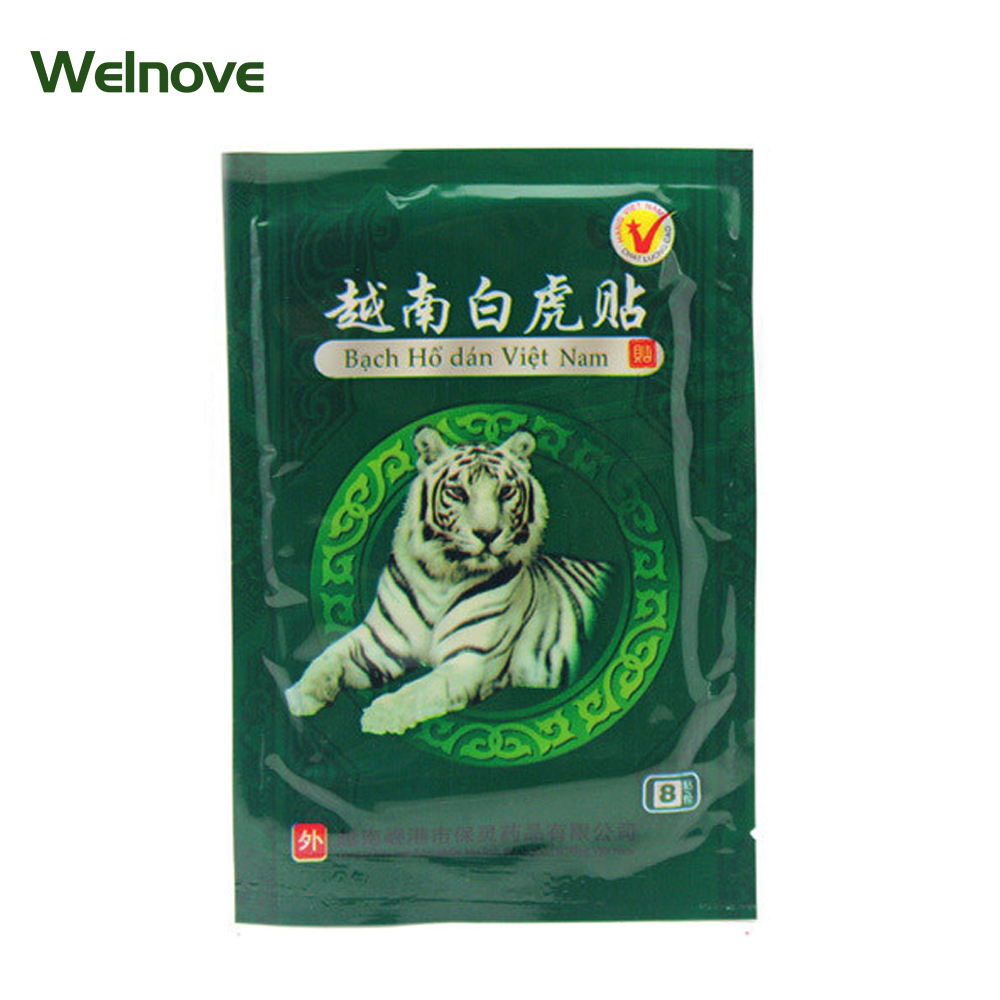 64Pcs Chinese Medical Plaster White Tiger Pain Relief Patch Muscles Pain Patch Help Sleep Body Massager Health Care D0636 soft laser healthy natural product pain relief system home lasers