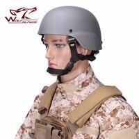 Mich 2000 Tactical Paintball Casco ABS con Auto Ajustable Acolchado de Esponja Saltar Rápido CS Al Aire Libre Militar Protector de Cabeza