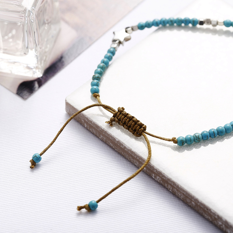 New Foot Jewelry Star String Beads Adjustable Anklet Bracelet for Women Bohemian Foot Bracelet on Leg Anklets in Anklets from Jewelry Accessories