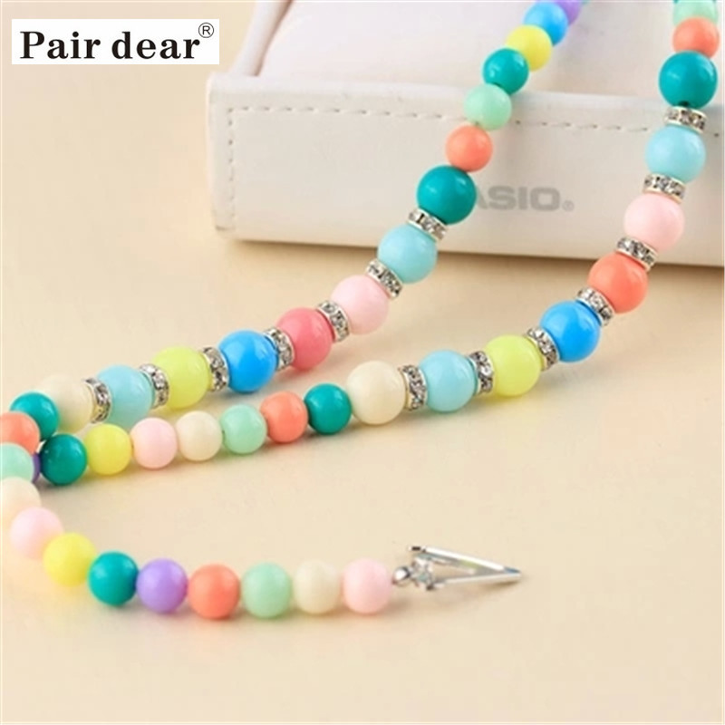 Pair dear women casual adjustable Macaron Bra shoulder Straps imitation pearl summer sexy party dress underwear strap 1 pair