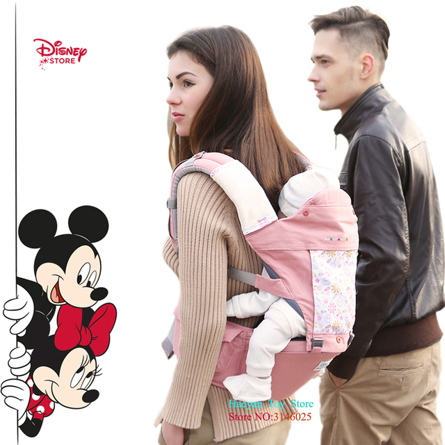 Disney 0-36 Month Breathable Ergonomic Carrier Backpack Portable Infant Baby Carrier Hip Seat Heaps with Suck Pad Toddler Walker