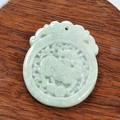 Genuine natural Fine Auspicious Unicorn a Buddism godness  Burma jade Buddism godness  jade pendant with certificate