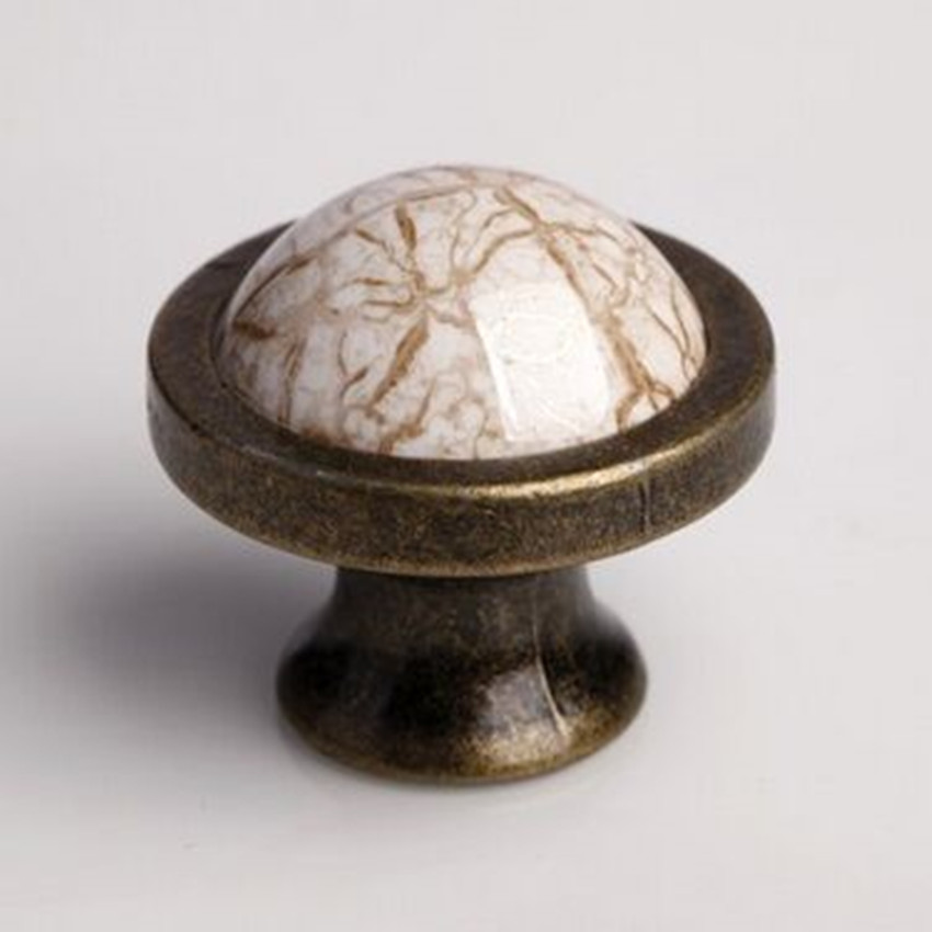 Marble vein ceramic kitchen cabinet knob antique brass drawer knob bronze dresser rustico retro furniture knob handle bronze phoenix kitchen cabinet drawer knob furniture handel