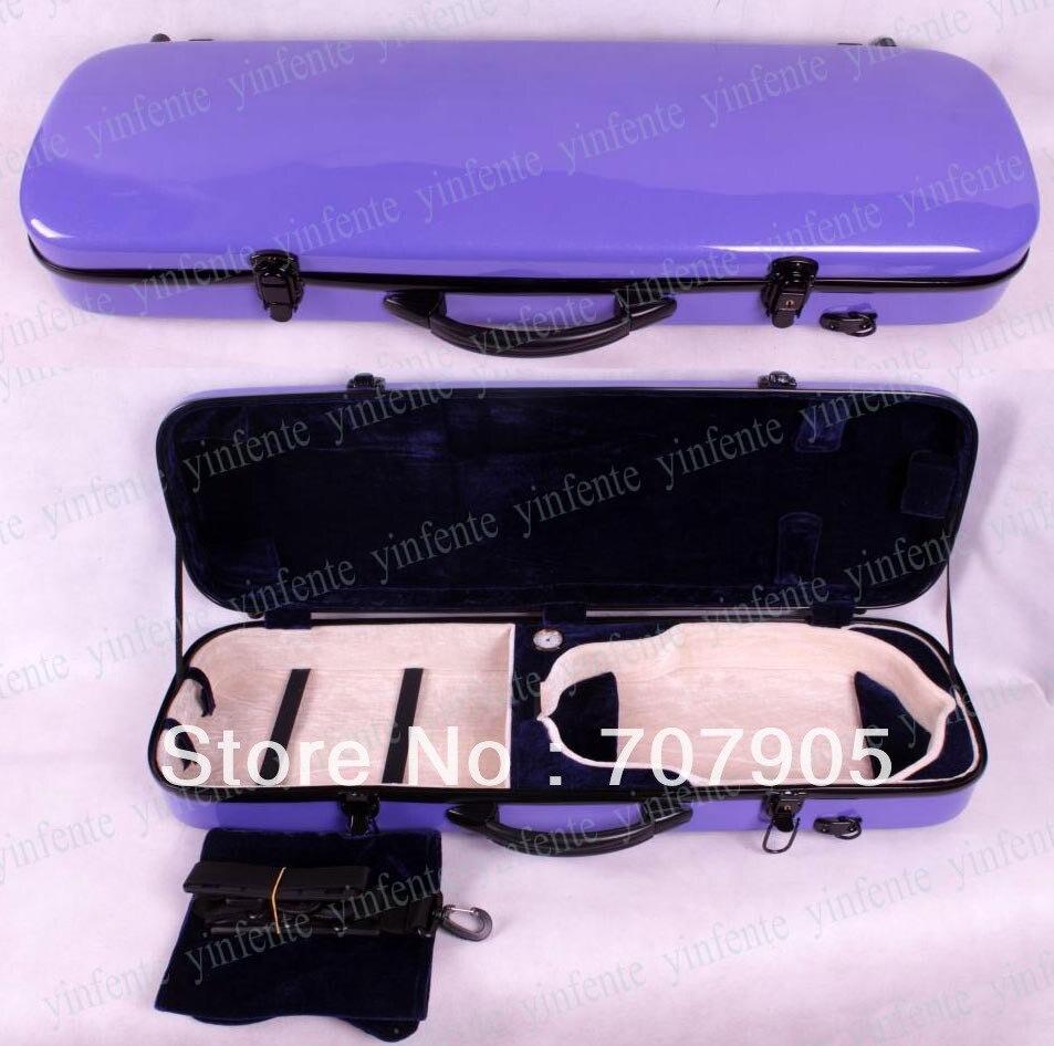 Здесь можно купить   4/4 violin Water Proof Glass fiber Square Case Dropshipping Wholesale Light Durable Purple Спорт и развлечения