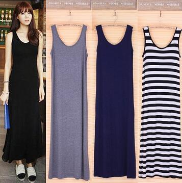 2017 summer dress mujeres sexy beach maxi dress o-cuello sin mangas vestido de n