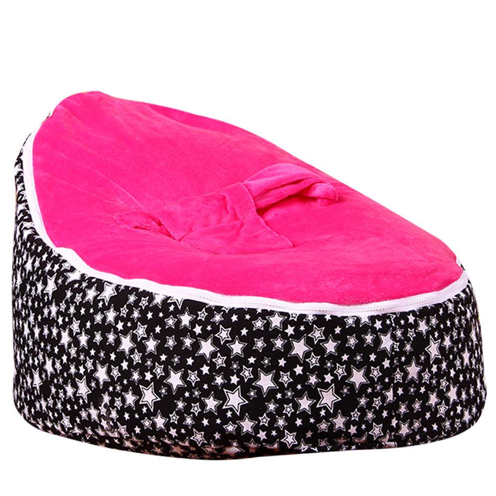 Levmoon Estrela Médio Cadeira do Saco de Feijão Crianças Cama Para Dormir Portátil Criança Dobrável Assento Do Sofá Zac Sem O Enchimento