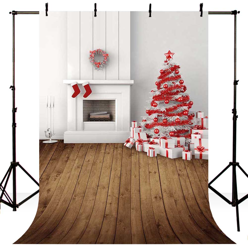 6X8ft Christmas Photography background Xmas Trees Wood Floor Baby Photo Backdrops for Photo studio Thin Vinyl CM-6376 kidniu chair background for baby photo studio props scenic vinyl street photography trees backdrops screen 9x5ft an070