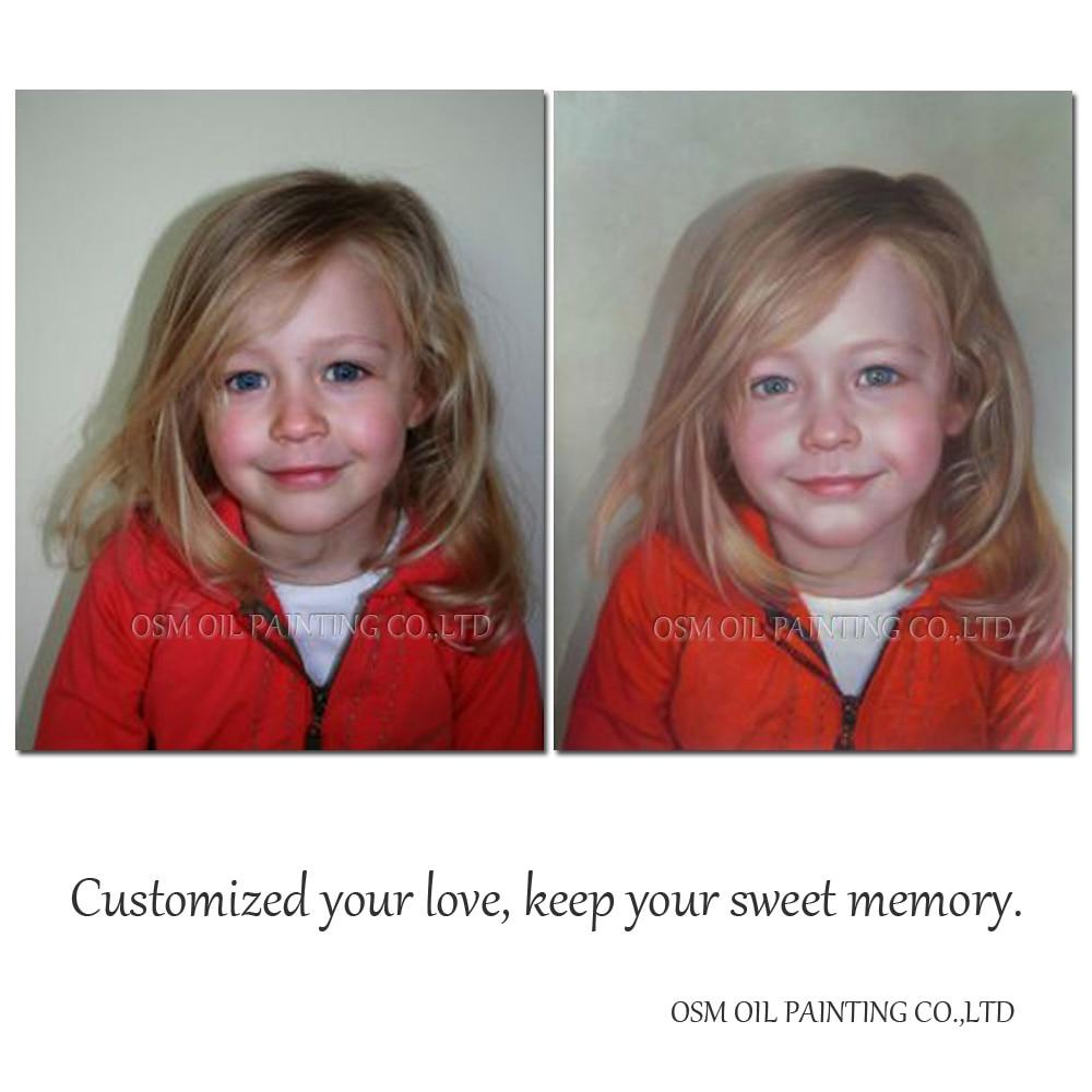Высокое качество Пользовательские Портрет маслом для друзей подарок настроить ПЭТ портрет маслом повернуть фото в масляной живописи