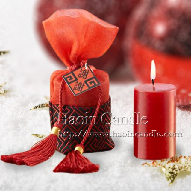 2pcs Vintage China Style Traditional Shaped Red Hiness Candles Chinese Wedding Favors And Gifts Party