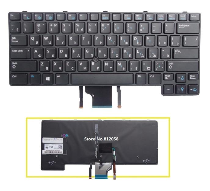 Russian RU keyboard for Dell E6430U E6430S E6330 With backlight laptop