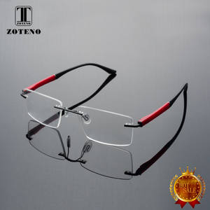 313dbbbedf Rimless Men Eyeglasses Frame Fashion Brand Designer Myopia Computer Clear  Optical Prescription Eyewear transparent Frame  88012