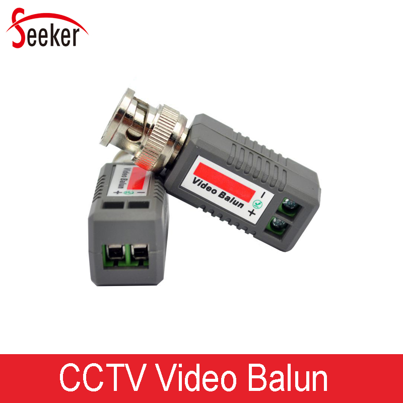 200pcs/100pairs CCTV HD Coaxial Cat5 UTP Transceivers Video Balun Adapter Twisted Passive Video Balun For Security Cameras